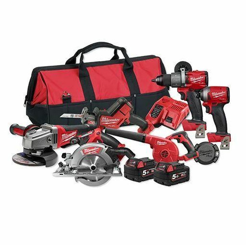 Milwaukee M18 FUEL Lithium Ion 18v Cordless 6pce Combo Brushless Kit # M18FPP6A2-502B