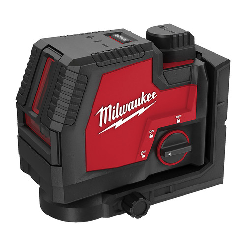 Milwaukee REDLITHIUM USB Rechargeable Cross Line Laser Kit # L4CLL-301C