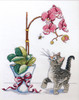 Design Works - Orchid Kitty