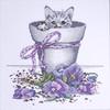 Design Works - Flower Pot Kitty