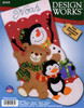 Design Works - Holiday Friends Stocking