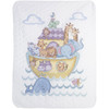 Plaid / Bucilla - Noah's Ark Crib Cover / Quilt