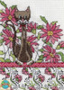 Design Works - Pink Floral Cat