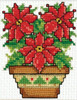 Design Works - Poinsettias Picture Kit with Frame
