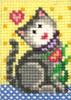 Candamar EZ Stitchin' - Kitten & Flower