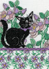Design Works - Lilac Floral Cat