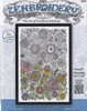 """Design Works - Zenbroidery Floral 10"""" x 16"""""""