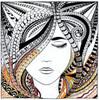 "Design Works - Zenbroidery Woman 10"" x 10"""