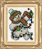 Design Works -  Snowman Lights Picture Kit w/Frame