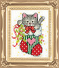 Design Works -  Stocking Cat Picture Kit w/Frame