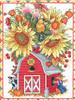 Janlynn - Barn Birdhouse Bouquet