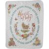 Plaid / Bucilla - Sweet Baby Crib Cover / Quilt