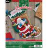 Plaid / Bucilla - Santa's Visit Stocking
