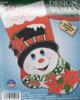 Design Works - Poinsettia  Snowman Stocking