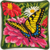 Dimensions - Butterfly and Zinnias
