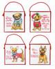 Dimensions - Set of 4 Christmas Pups Ornaments