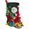 Plaid / Bucilla - Santa's Sleigh Stocking