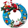 Plaid / Bucilla - Airplane Santa Wreath