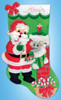 Design Works - Santa with Mouse Stocking