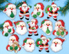 Design Works - Joyful Santas Ornament Set (13)