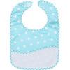 DMC Stitchable 14 count Blue Polka Dot Toddler Bib