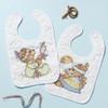 Plaid / Bucilla - Tee Pee Bears Bib Pair