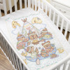 Plaid / Bucilla - Tee Pee Bears Crib Cover