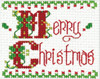 Design Works Stitch Studio - Merry Christmas Picture Kit w/Frame