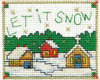 Design Works Stitch Studio -  Let It Snow Picture Kit w/Frame
