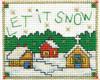 Design Works Stitch Studio -  Let It Snow Picture Kit w/Frame
