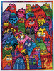 Design Works - Laurel Burch Cat Collage