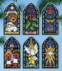 Design Works - Peace on Earth Stained Glass Ornaments