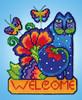 Design Works - Laurel Burch Feline Welcome Wall Decor