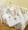 Plaid / Bucilla - Up, Up and Away Crib Cover