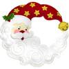 Plaid / Bucilla - Crescent Moon Santa Wreath