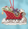 Mill Hill 2017 Sleigh Ride Charmed Ornament - Evergreen Sleigh