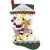 Plaid / Bucilla - Carousel Santa Stocking
