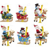 Plaid / Bucilla - Carousel Santa Ornaments