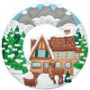 Plaid / Bucilla - Winter Cabin Wreath