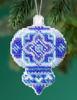 Mill Hill 2019 Beaded Holiday Ornament - Azure Medallion