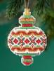 Mill Hill 2019 Beaded Holiday Ornament - Ruby Diamond