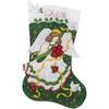 Plaid / Bucilla -  Poinsettia Angel Stocking