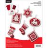 Plaid / Bucilla -  Nordic Christmas Ornaments