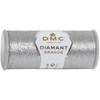 DMC - 21.8 Yard Spool of Dark Silver Diamant Grande Metallic Thread #G415