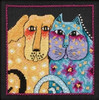 Mill Hill / Laurel Burch - Fur-ever Friends  (LINEN)