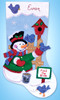 Design Works - Feed the Birds Snowman Felt Stocking