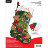 Plaid / Bucilla -  Bear Family Christmas Stocking
