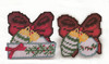 Design Works - Set of 6 Christmas Ornaments Coasters w/Holder