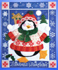 Design Works - Snowball Penguin Christmas Wall Hanging
