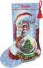 Dimensions Gold Collection - Santa's Snow Globe Stocking